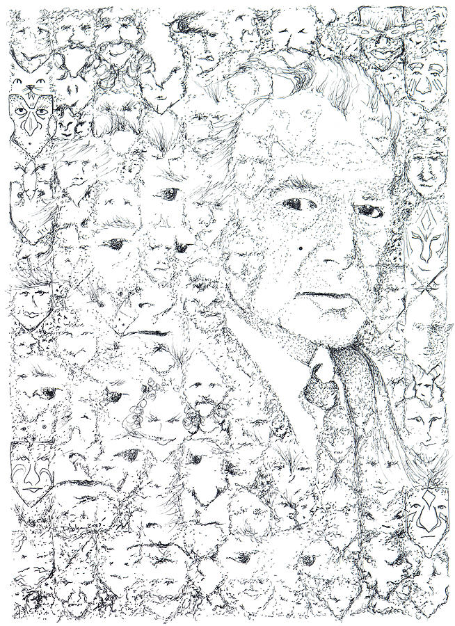Juan Rulfo Drawing - Juan Rulfo Sombra De Arreguin by Doug Johnson