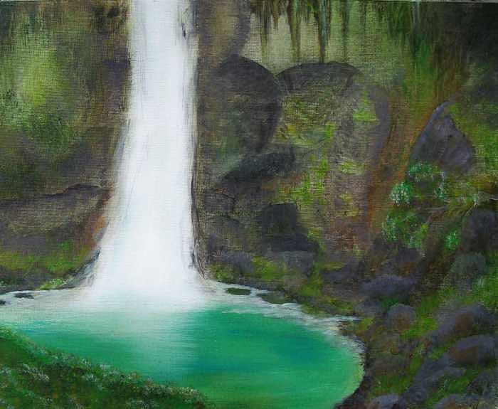 Waterfall Painting - Juana Falls by Tony Rodriguez