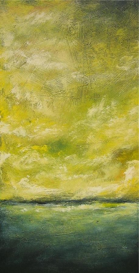 Yellow Painting - Juane by Ellen Lewis