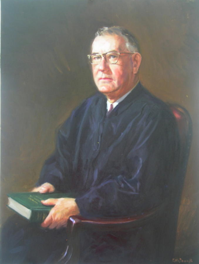 Portrait Painting - Judge Ralph Coyt by Ron W McDowell
