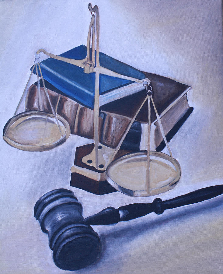 Scales Painting - Judge Scales by Mikayla Ziegler