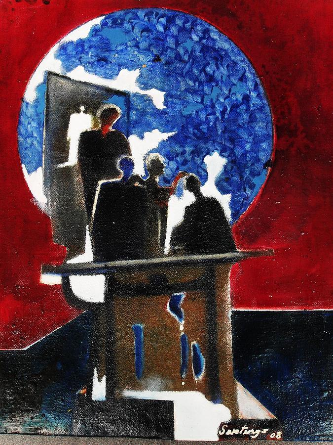 Judgment Painting by Adalardo Nunciato  Santiago