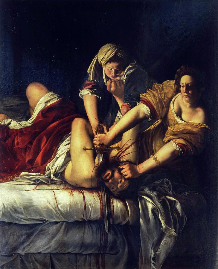 Artemisia Gentileschi Painting - Judith Beheading Holofernes by Artemisia Gentileschi