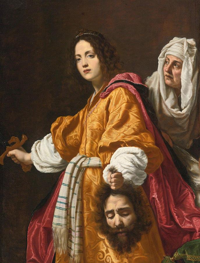 Cristofano Allori Painting - Judith Holding The Head Of Holofernes by Cristofano Allori