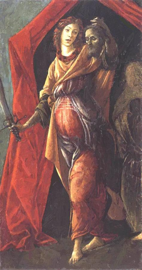 Judith Painting - Judith Leaving The Tent Of Holofernes 1500 by Botticelli Sandro