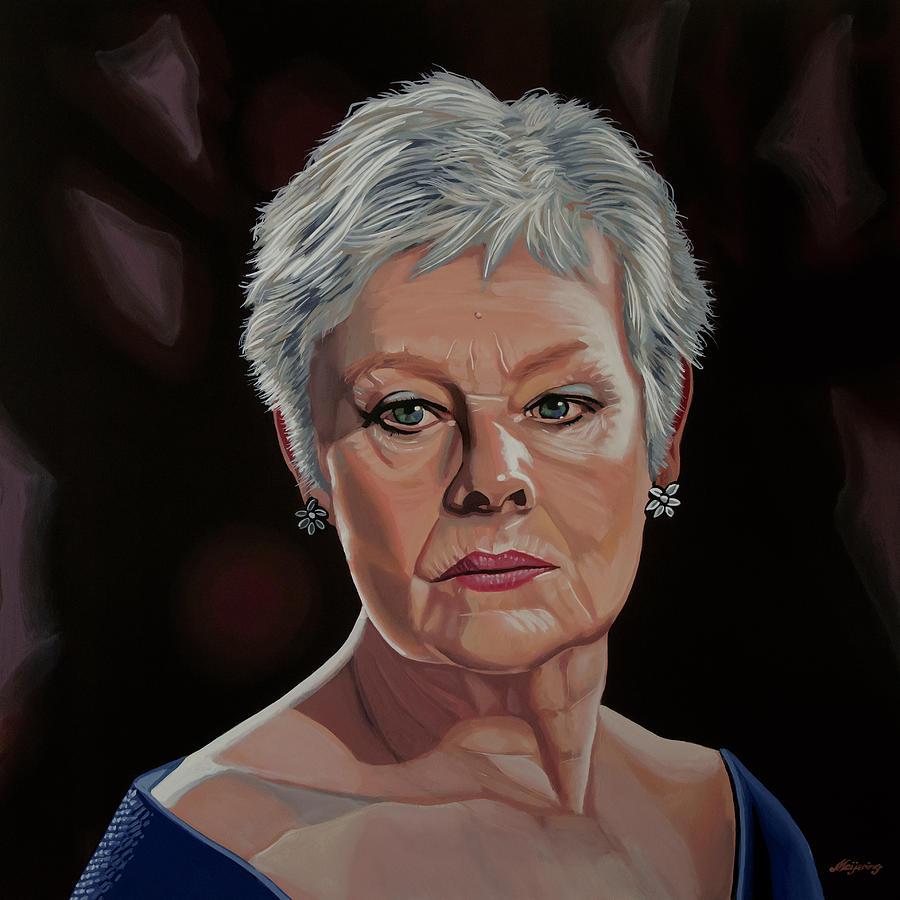 Judi Dench Painting by Paul Meijering