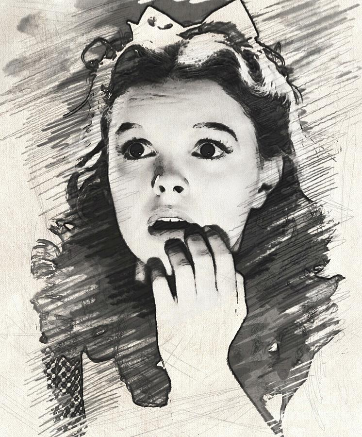 Judy Garland As Dorothy Drawing