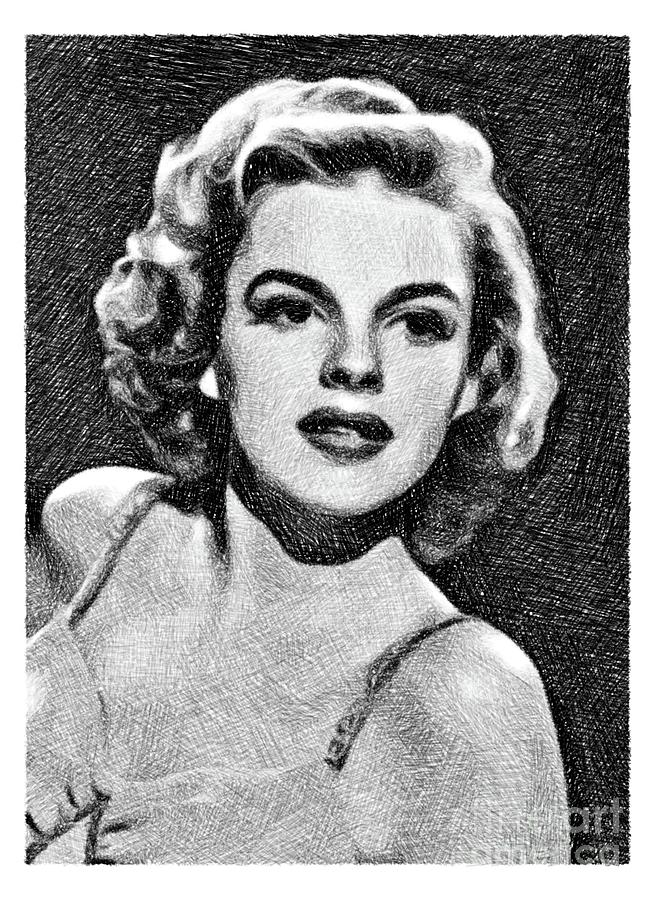 Judy Garland, Vintage Actress By Js Drawing