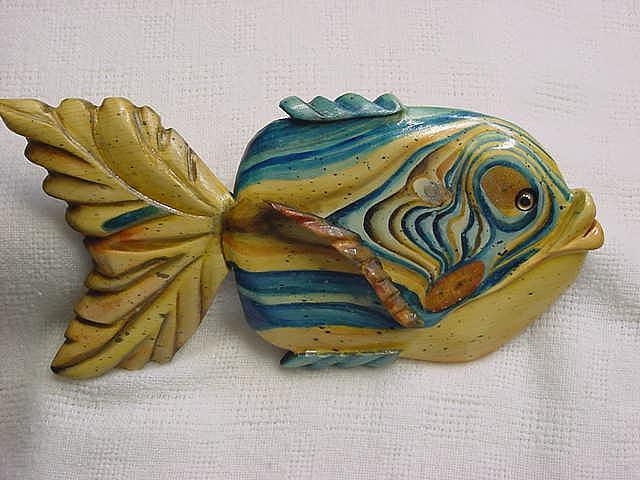 Carvings Relief - Jug Island Wooden Florida Fish-sold by Lisa Ruggiero