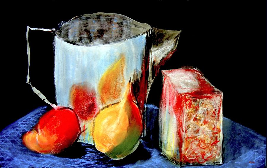 Kitchen Painting - Jug With Fruit by VIVA Anderson