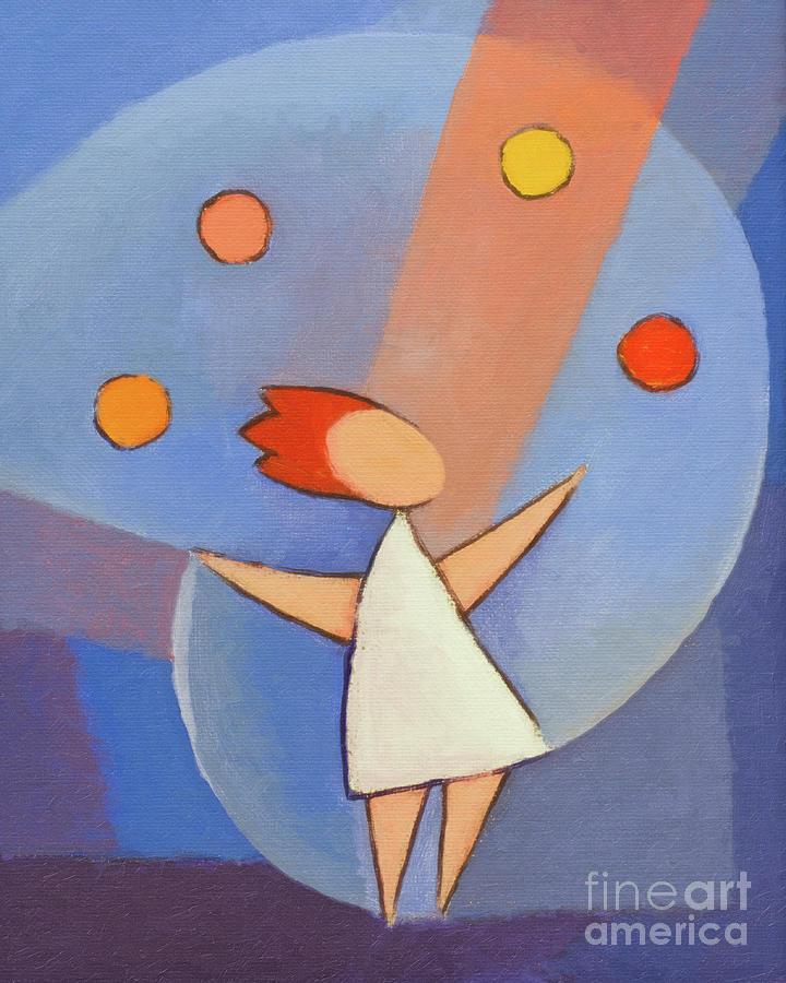 Juggler Painting - Juggler by Lutz Baar