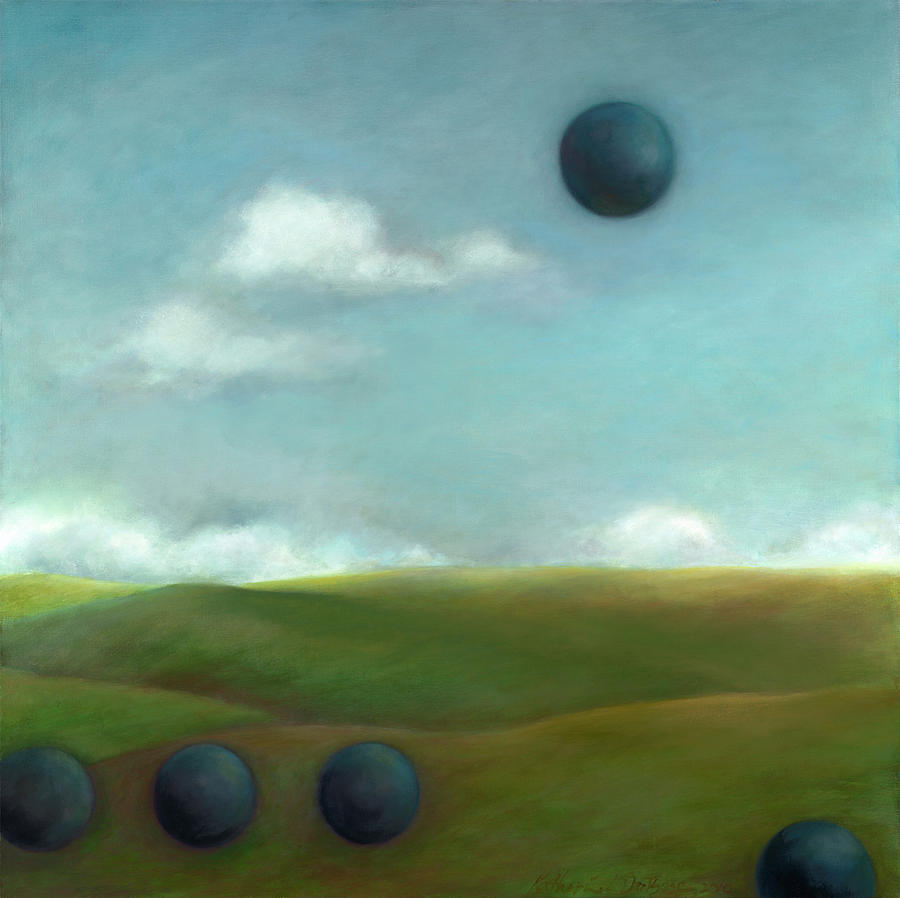 Landscape Painting - Juggling 2 by Katherine DuBose Fuerst