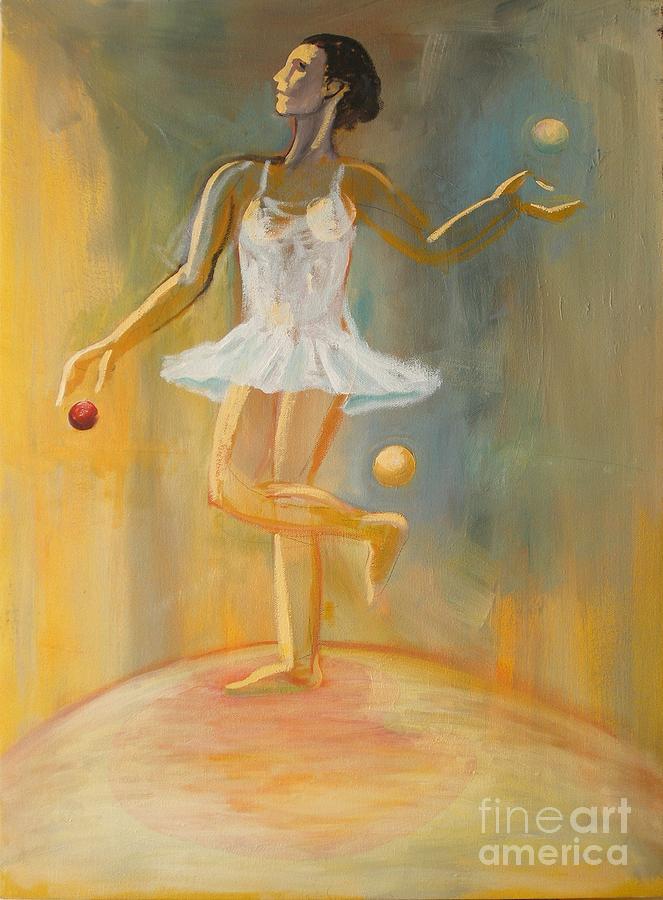 Juggling Painting - Juggling by Ushangi Kumelashvili