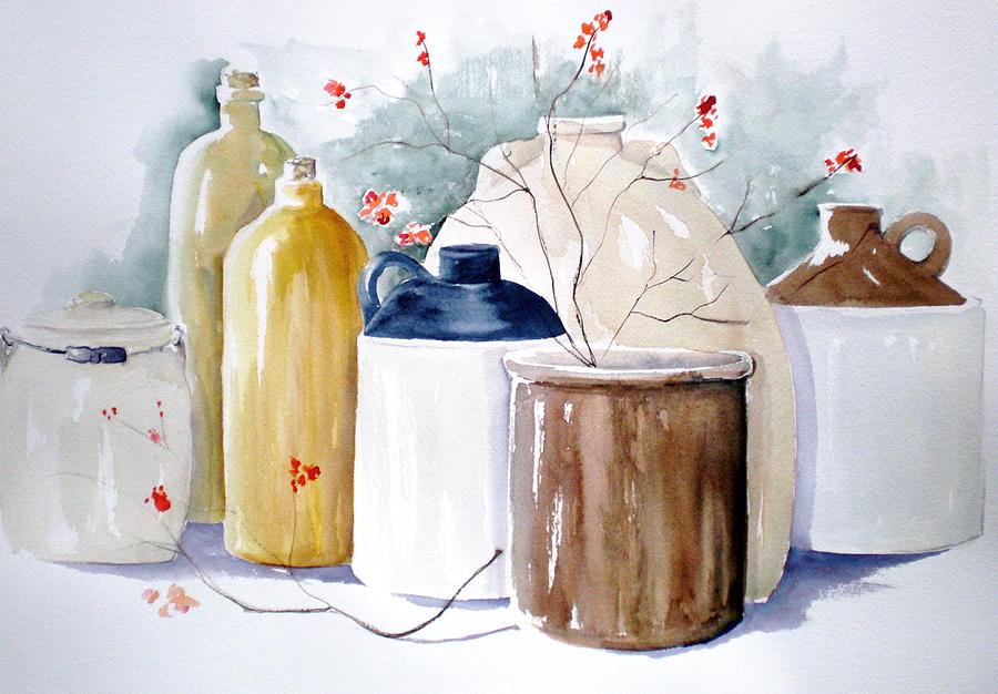 Bittersweet Painting - Jugs by Lisa Schorr