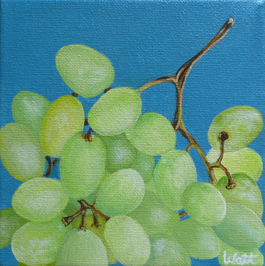 Grapes Painting - Juicy Grapes by Tammy Watt