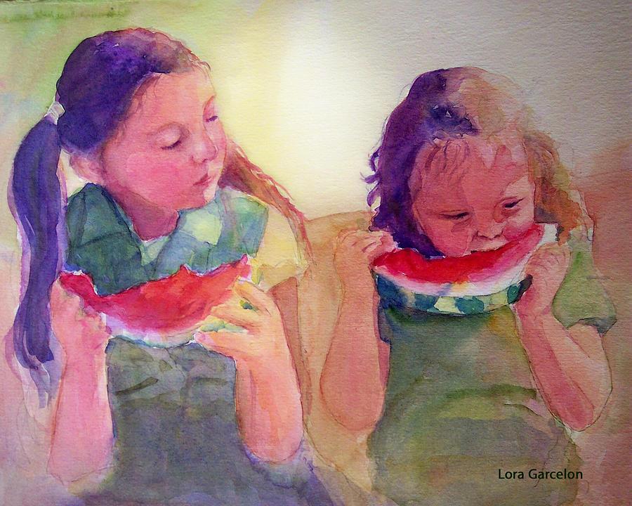 Watercolor Painting - Juicy by Lora Garcelon