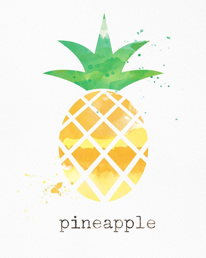 Pineapple Painting - Juicy Pineapple by Linda Woods