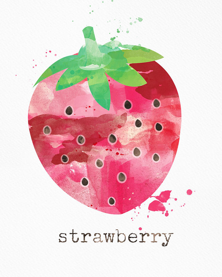 Strawberry Painting - Juicy Strawberry by Linda Woods