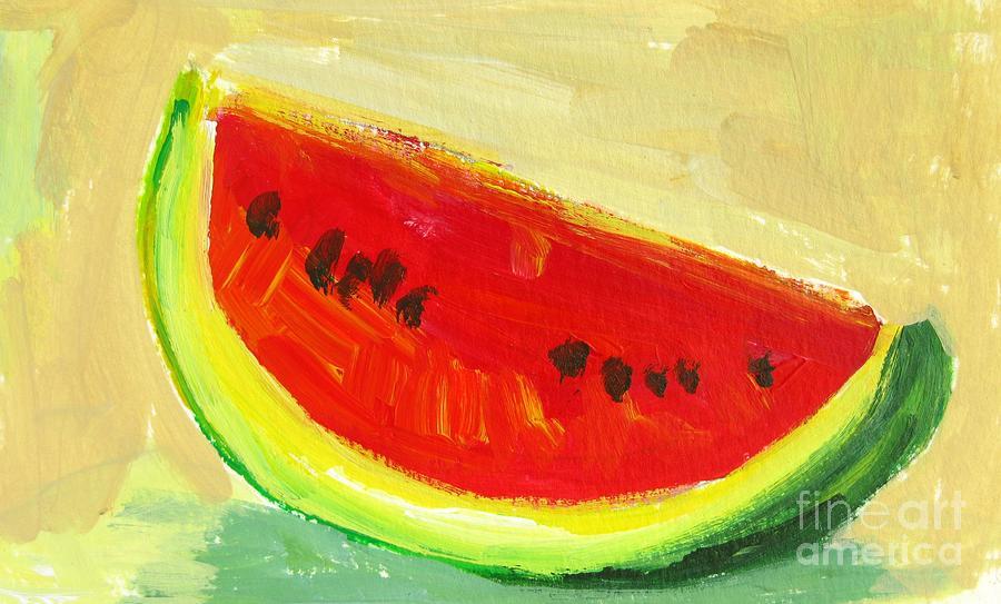 Watermelon Painting   Juicy Watermelon   Kitchen Decor Modern Art By  Patricia Awapara