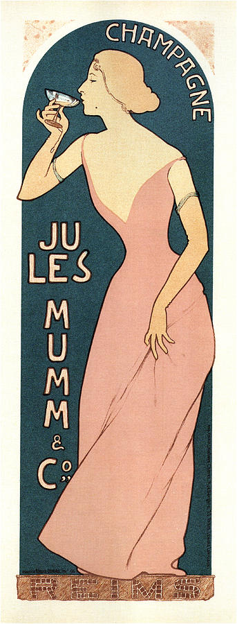 Jules Mumm And Co - Wine - Vintage Advertising Poster Mixed Media