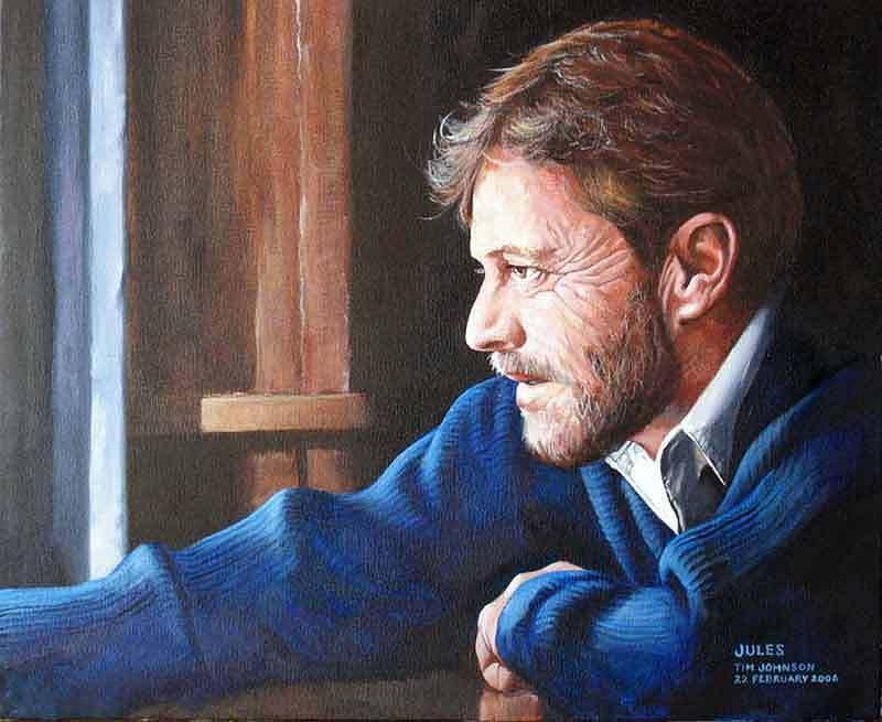 Portrait Painting - Jules by Tim Johnson