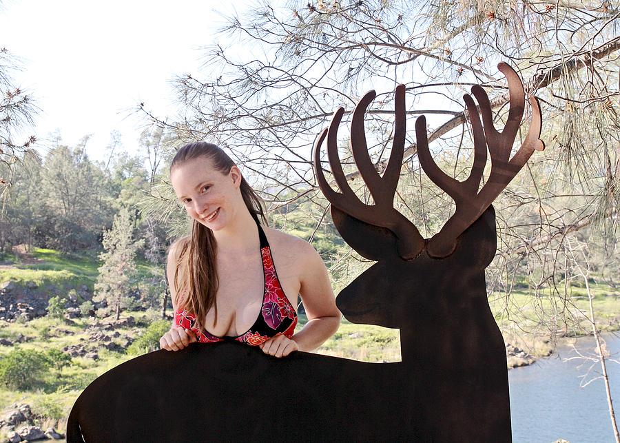 Woman Photograph - Julia And River Sculpture 2014 by James Warren