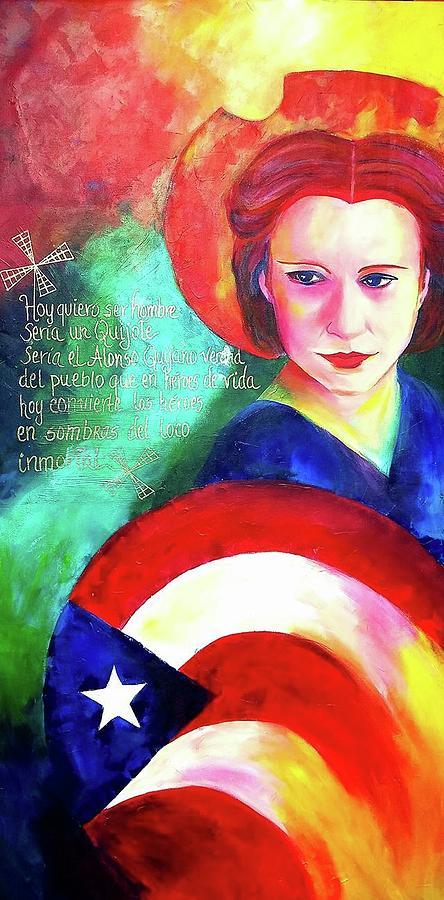 Julia De Burgos Painting - Julia De Burgos  by Luzdy Rivera