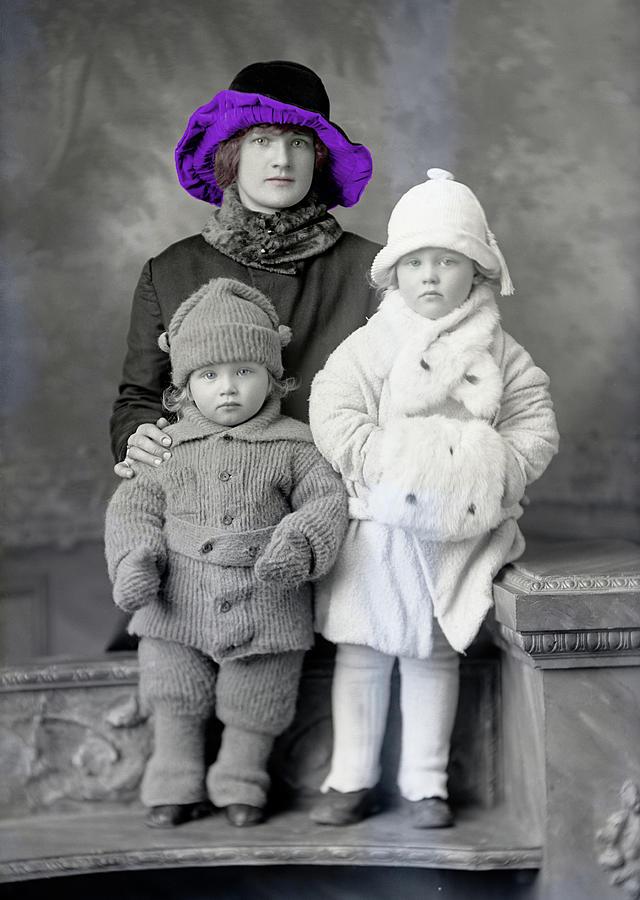 Flapper Photograph - Julia Johnson in Purple Cloche by Rachel Knight