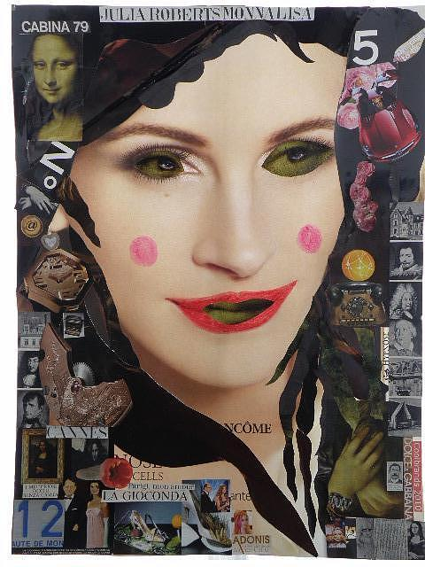 D&g Mixed Media - Julia Roberts Monna Lisa by Francesco Martin