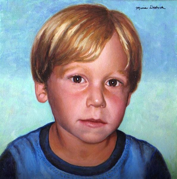Portrait Painting - Julian by Moira Dedrick