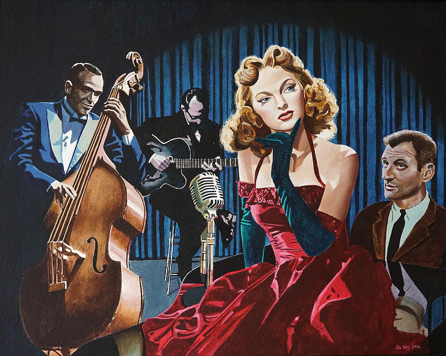 Julie London Painting - Julie London - Cry Me A River by Jo King