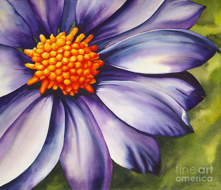 Flower Painting - Juliette by Christiane Fortin