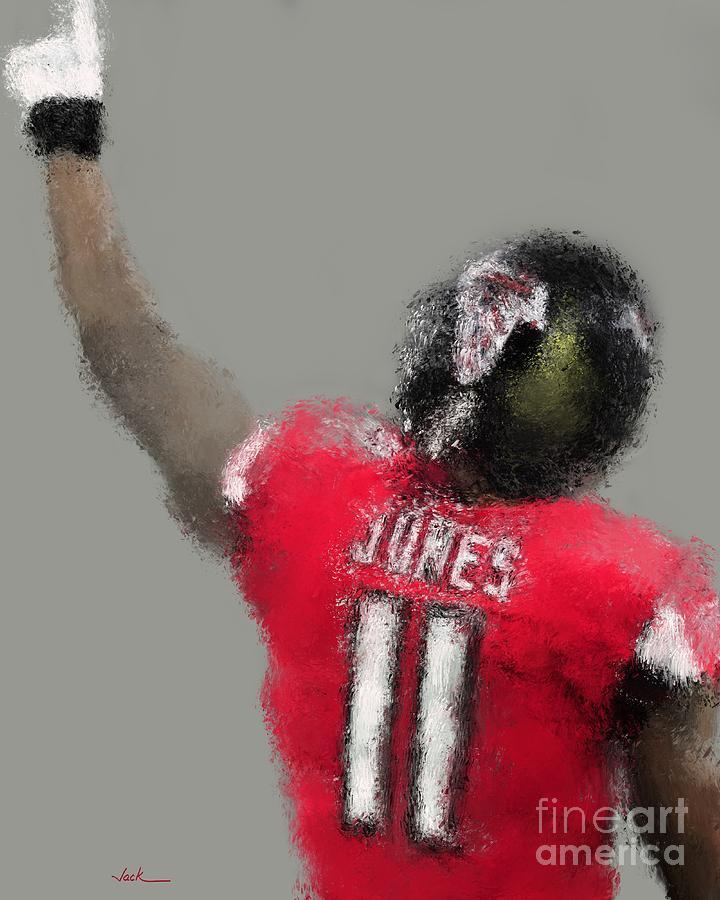 Julio Jones Painting - Julio Jones by Jack Bunds