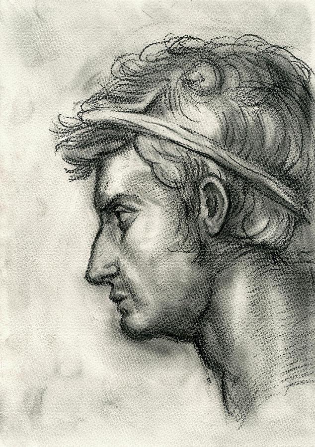 Julius Caesar Study Painting by Juan Bosco