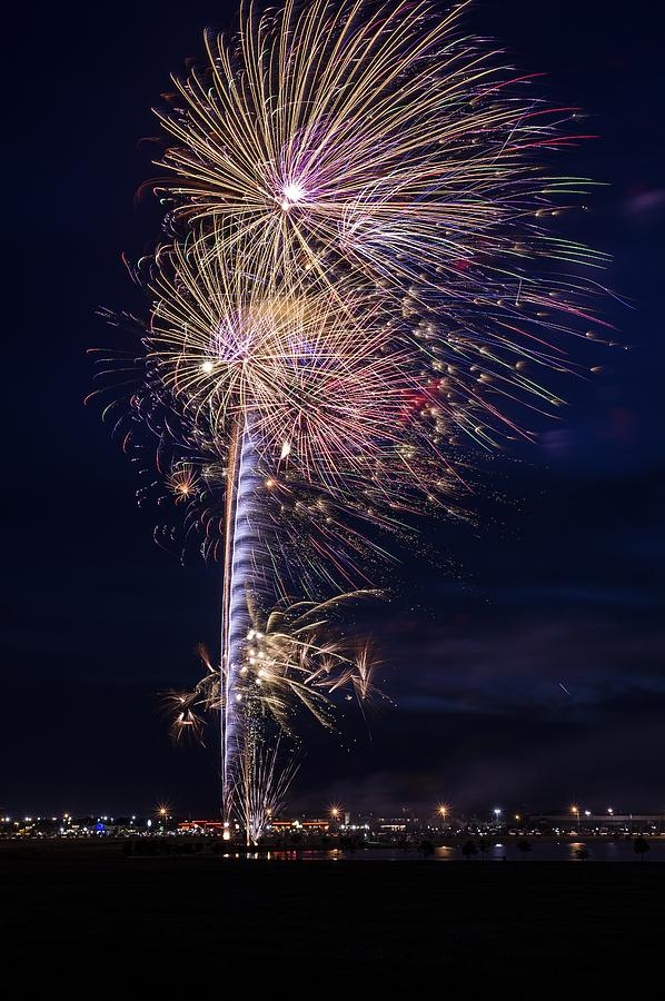 Fireworks Photograph - July 4th 2015 #1 by Brandon Green