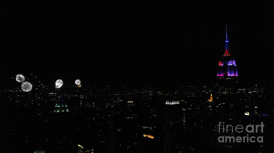 Empire State Building Photograph - July 4th 2015 by Lilliana Mendez