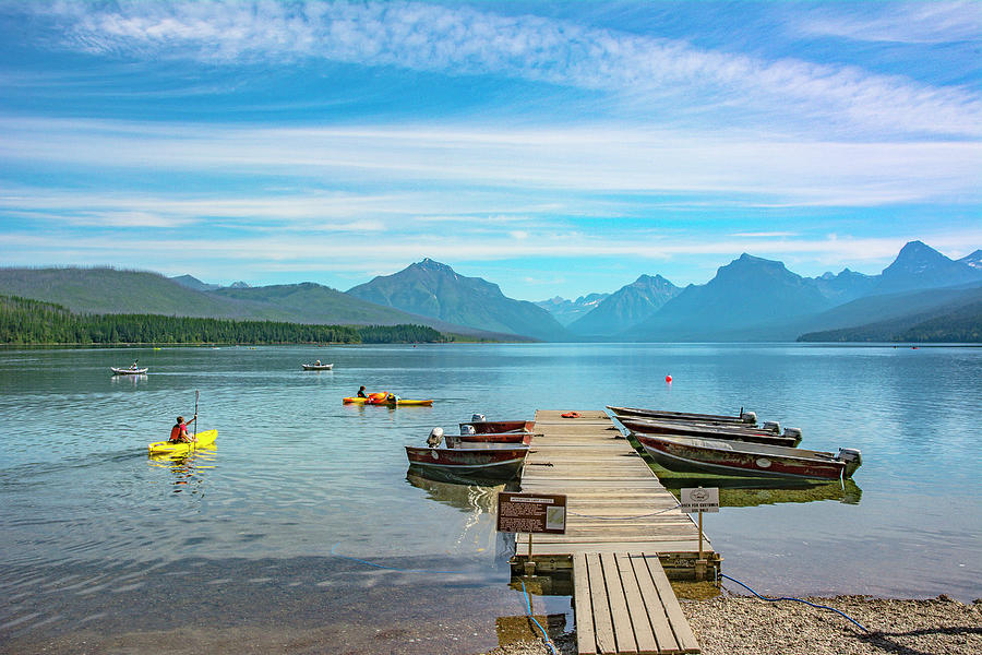 Montana Photograph - July 4th on Lake McDonald by Bryan Spellman