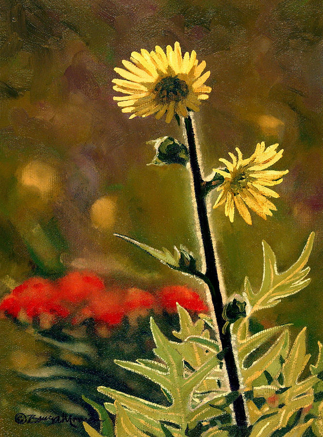 Prairie Painting - July Afternoon-Compass Plant by Bruce Morrison