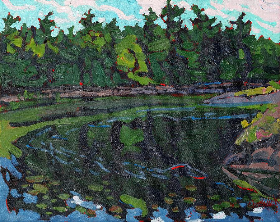 Jim Day Painting - July Long Reach by Phil Chadwick