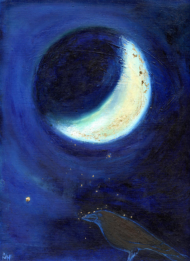 Moon Painting - July Moon by Nancy Moniz