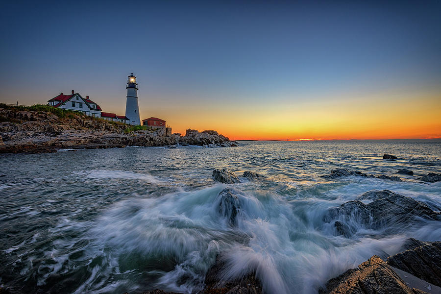 Portland Head Lighthouse Photograph - July Sunrise At Portland Head by Rick Berk