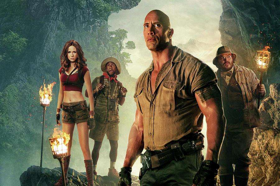 Jumanji Mixed Media - Jumanji Welcome To The Jungle by Movie Poster Prints
