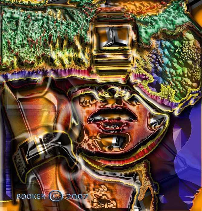 Jazz Mixed Media - Jumba Jiya by Booker Williams