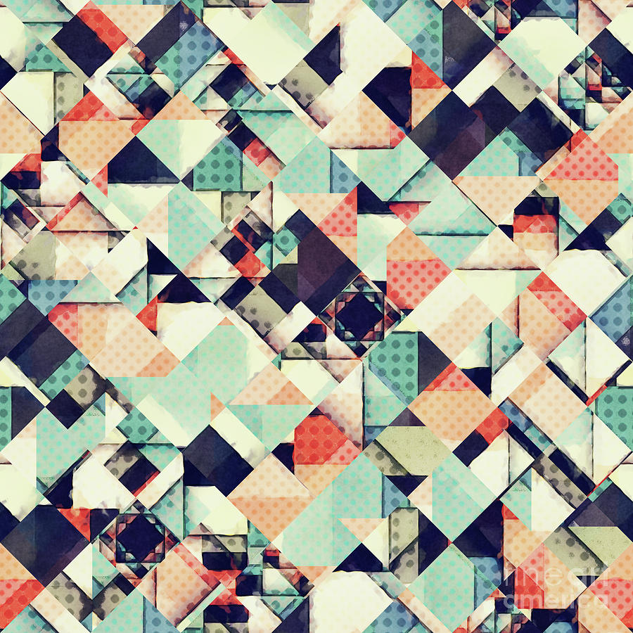 Pattern Digital Art - Jumble of Colors And Texture by Phil Perkins