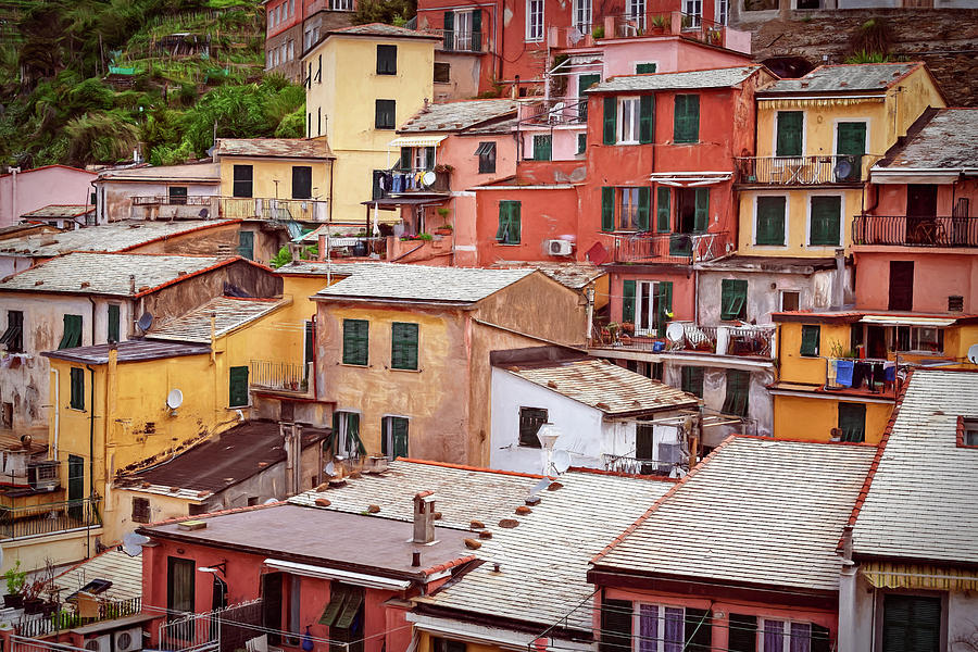 Jumble Of Houses Vernazza Cinque Terre Italy Photograph