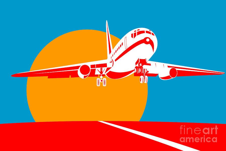 Jumbo Digital Art - Jumbo Jet  by Aloysius Patrimonio