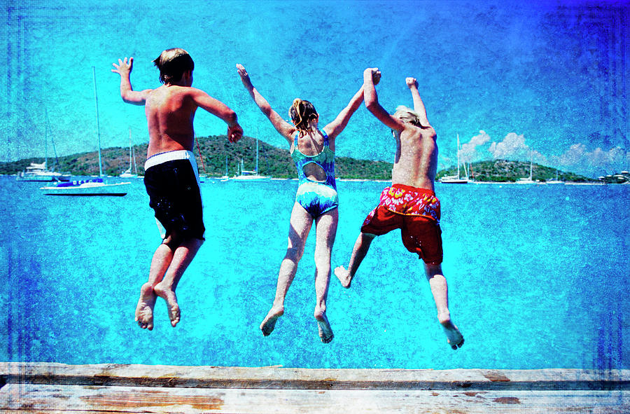 Jump In Photograph by Guy Crittenden