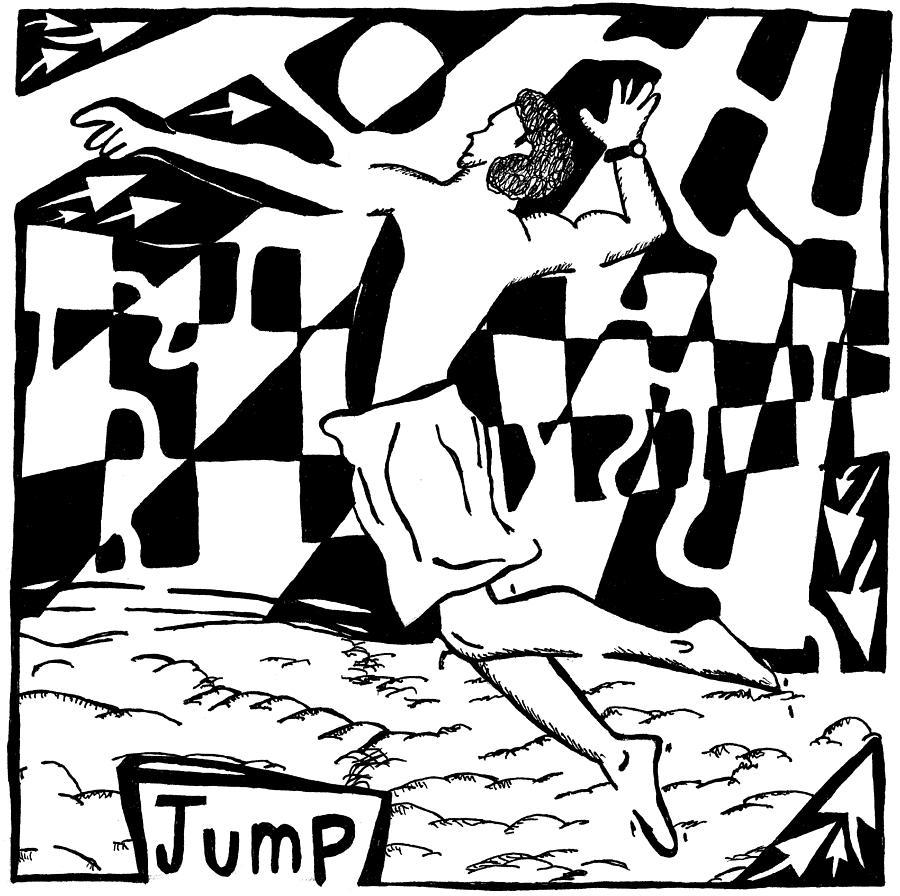 Jump Drawing - Jump Maze by Yonatan Frimer Maze Artist