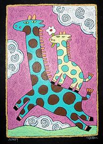 Jump Painting by Nancy  Coffelt