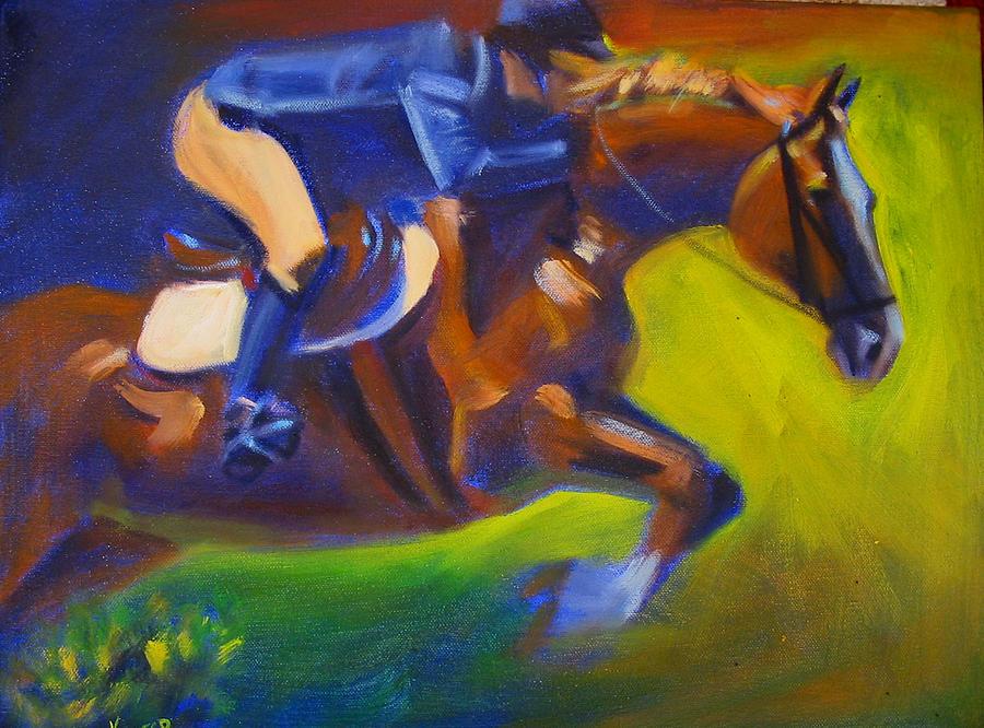 Horse Painting - Jumper 2 by Kaytee Esser